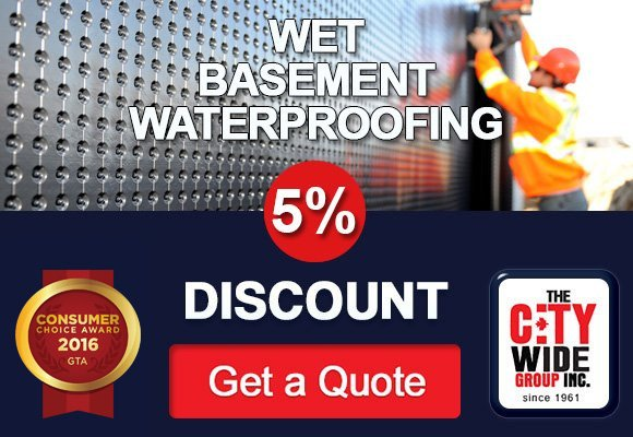 5% Discount on Wet Basement Waterproofing